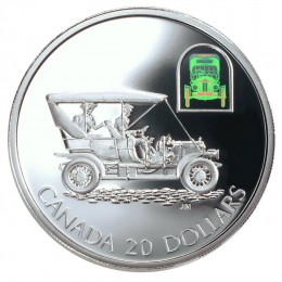 "2001 Canada Sterling Silver $20 Coin - Transportation Series: The Russell ""Light Four"""