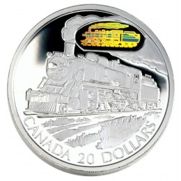 2002 Canadian $20 Transportation: The D10 Locomotive Sterling Silver Hologram Coin