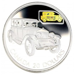 2002 Canadian $20 Transportation: The Gray-Dort Sterling Silver Hologram Coin