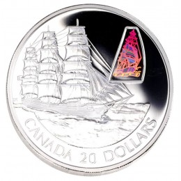 2002 Canadian $20 Transportation: The William Lawrence Sterling Silver Hologram Coin