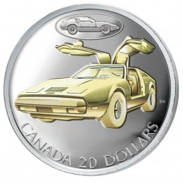 2003 Canadian $20 Transportation: The Bricklin SV-1 Gull-Wing Car Sterling Silver Gold-plated Coin