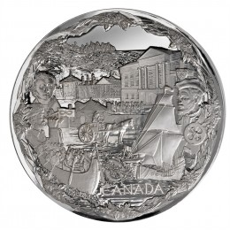 2008 Canada Fine Silver $250 Kilo Coin - Vancouver 2010 Olympic Games: Towards Confederation