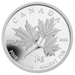 2011 Fine Silver 250 Dollar Kilo Coin - Maple Leaf Forever