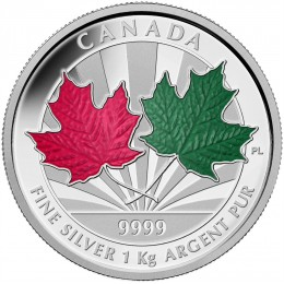 2014 Canadian $250 Maple Leaf Forever - Fine Silver Kilogram Coin