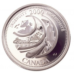 2000 Sterling Silver 25 Cent Coin - Millennium Series: February, Ingenuity