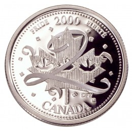 2000 Sterling Silver 25 Cent Coin - Millennium Series: January, Pride