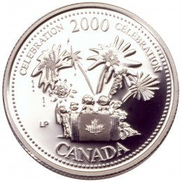 2000 Sterling Silver 25 Cent Coin - Millennium Series: July, Celebration