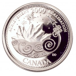 2000 Sterling Silver 25 Cent Coin - Millennium Series: March, Achievement