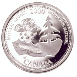 2000 Sterling Silver 25 Cent Coin - Millennium Series: May, Natural Legacy