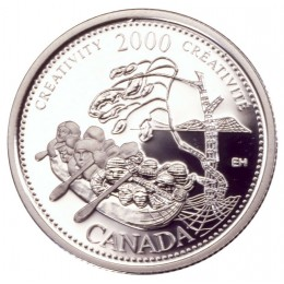 2000 Sterling Silver 25 Cent Coin - Millennium Series: October, Creativity