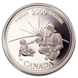 2000 Sterling Silver 25 Cent Coin - Millennium Series: September, Wisdom