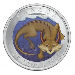 2011 Canada 25 Cent Coin - Canadian Mythical Creatures: Mishepishu