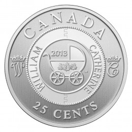 2013 Canada 25 Cent Coin - Royal Infant Carriage