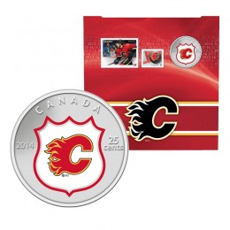 2014 Canada NHL® 25 cent Coin & Stamp Gift Set - Calgary Flames
