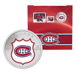 2014 Canada NHL® 25 cent Coin & Stamp Gift Set - Montreal Canadiens