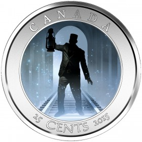 2015 Canadian 25-Cent Haunted Canada: Brakeman Coloured Lenticular Coin