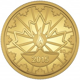 2015 Canadian 25 Cent Diwali: Festival of Lights 0.5 g Pure Gold Coin