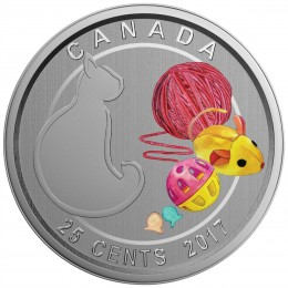 2017 Canada 25-cent Coin - Love My Cat