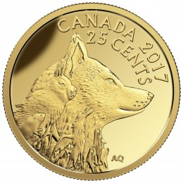 2017 Canada Pure Gold 25-cent Coin - Predator vs. Prey Series: Inuit Arctic Fox