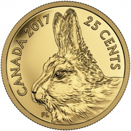 2017 Canada Pure Gold 25-cent Coin - Predator vs. Prey Series: Traditional Arctic Hare