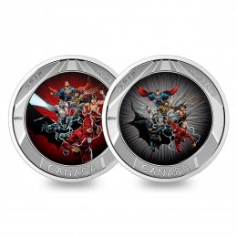 2018 Canadian 25-Cent The Justice League - 3D Coin and Two Trading Cards