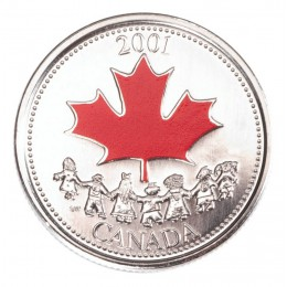 2001 Canada Day 25 Cent Coin Gift Card (Coloured)