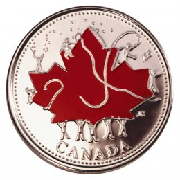 2002 Canada Day 25 Cent Coin Gift Card (Coloured)