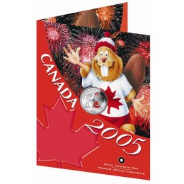 2005 Canada Day 25 Cent Coin Gift Card (Coloured)