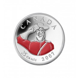 2007 Canada 25 Cent Coin - Canada Day (Coloured)