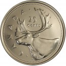 2002P Canadian 25-Cent Caribou (Brilliant Uncirculated)