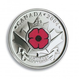 2004 Canadian 25-Cent Remembrance, Poppy (Brilliant Uncirculated)