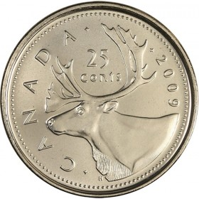 2009 Canadian 25-Cent Caribou Quarter Coin (Brilliant Uncirculated)