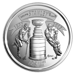 2017 (1892-) Canadian 25-Cent The Stanley Cup® 125th Anniv Quarter Coin (Brilliant Uncirculated)