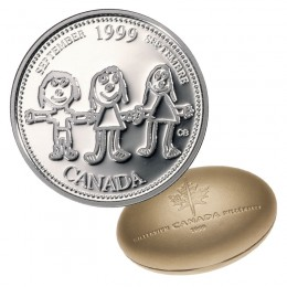 1999 Canadian 25-Cent September: Canada Through a Child's Eye Millennium Quarter Proof Silver Coin