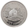 1992 (1867-) Canadian 25-Cent New Brunswick Confederation 125th Anniv/Provincial Quarter Proof Sterling Silver Coin