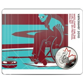 2007 Canada 25 Cents Vancouver 2010 Olympic Sports Card - Wheelchair Curling