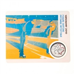 2008 Canada 25 Cent Vancouver 2010 Olympic Sports Card - Figure Skating