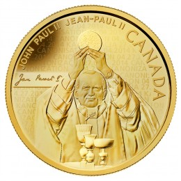 2014 Canada Pure Gold $25 Coin - Pope John Paul II