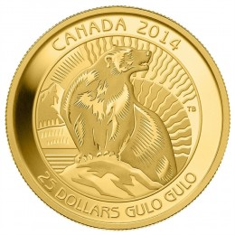 2014 Canada Pure Gold $25 Coin - The Wolverine