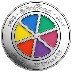 2017 (1982-) Canadian $25 35th Anniversary of Trivial Pursuit Game - 1 oz Fine Silver Coin