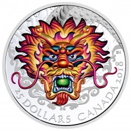 2018 Canadian $25 Dragon Boat Festival - Fine Silver Ultra-High Relief Coin