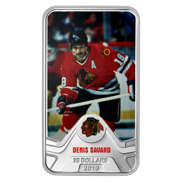 2019 Canadian $25 NHL® Original Six™: Chicago Blackhawks®, Denis Savard - 1.5 oz Fine Silver Coin