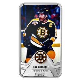 2019 Canadian $25 NHL® Original Six™: Boston Bruins®, Ray Bourque - 1.5 oz Fine Silver Coin