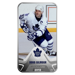 2019 Canadian $25 NHL® Original Six™: Toronto Maple Leafs®, Doug Gilmour - 1.5 oz Fine Silver Coin