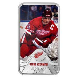 2019 Canadian $25 NHL® Original Six™: Detroit Red Wings®, Steve Yzerman - 1.5 oz Fine Silver Coin