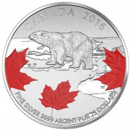 2016 Canadian $25 for $25 True North - Fine Silver Coin