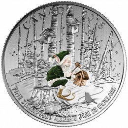 2016 Canadian $25 for $25 Woodland Elf Fine Silver Coloured Coin