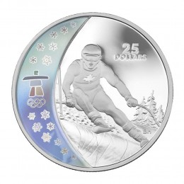 2007 Canada Sterling Silver $25 Coin - Vancouver 2010 Olympic Winter Games: Alpine Skiing