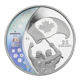 2007 Canada Sterling Silver $25 Coin - Vancouver 2010 Olympic Winter Games: Athletes' Pride
