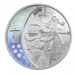 2007 Canada Sterling Silver $25 Coin - Vancouver 2010 Olympic Winter Games: Biathlon
